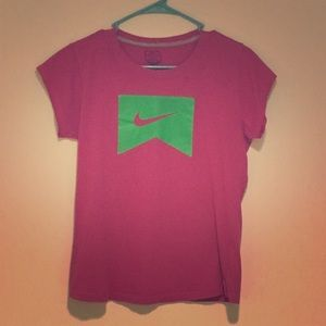 NIKE day-glow pink and green t-shirt.  Sz. XL